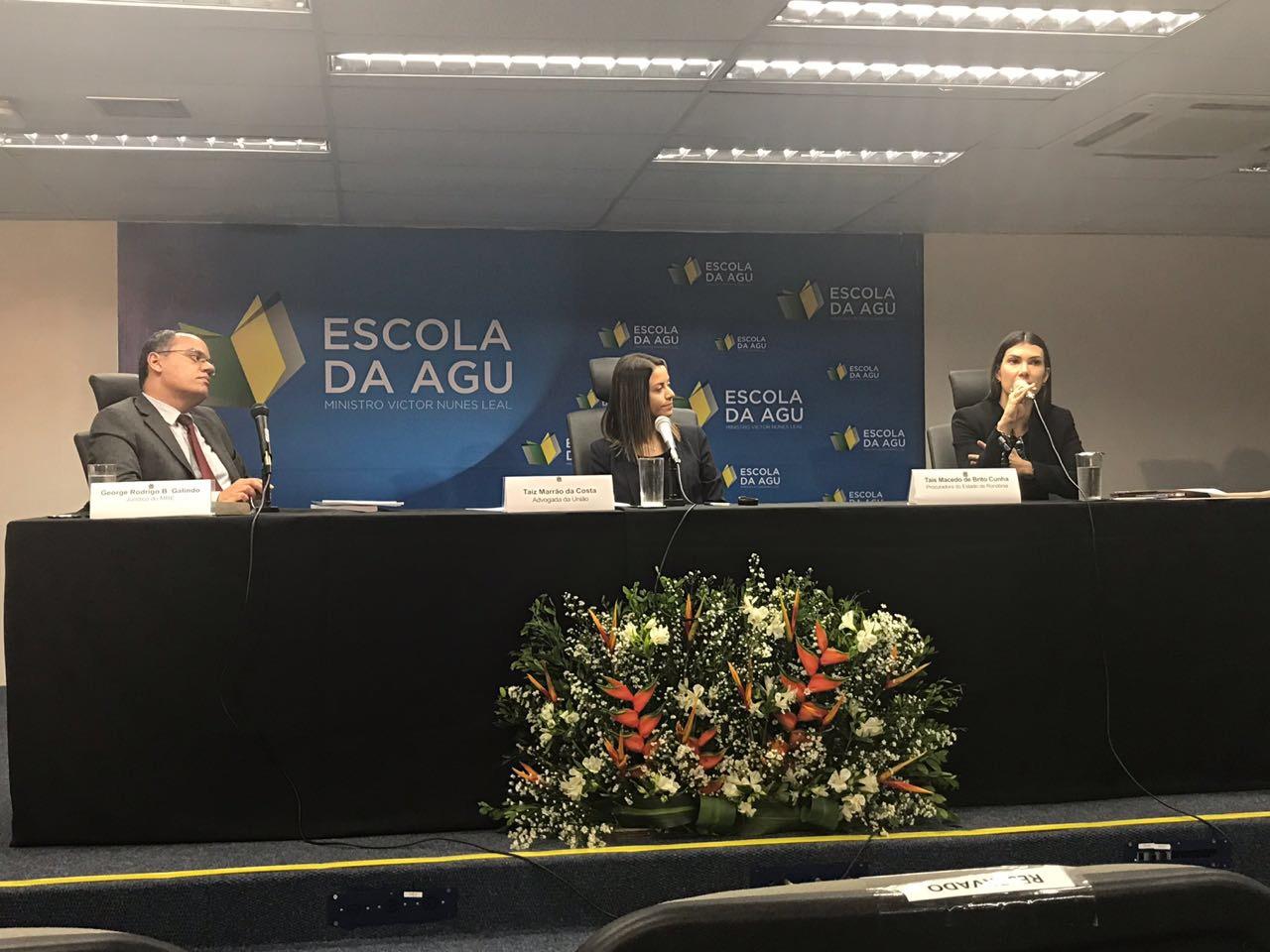 Procuradora Tais Cunha faz palestra em seminário internacional sobre Direitos Humanos e Advocacia Pública em Brasília